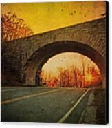 Sunset On Blue Ridge Parkway Canvas Print by Kathy Jennings