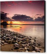 Sunset On The Rocks Canvas Print by Cale Best