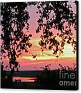Sunset Over Canyon Lake Canvas Print by Randi Shenkman
