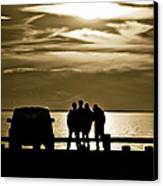 Sunset Silhouette Canvas Print by Vicki Jauron