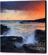Sunset Storm Passing Canvas Print by Mike  Dawson