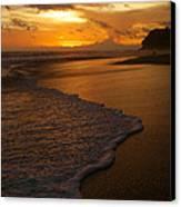 Sunset Surf Playa Hermosa Costa Rica Canvas Print by Michelle Wiarda