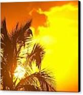 Sunset, Wailea, Maui, Hawaii, Usa Canvas Print by Stuart Westmorland