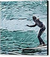 Surf Canvas Print by Tilly Williams