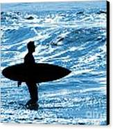 Surfer Silhouette Canvas Print by Carlos Caetano