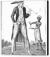 Surinam: Slave Owner, 1796 Canvas Print by Granger