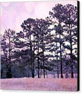 Surreal Fantasy Nature Purple Trees Landscape Canvas Print by Kathy Fornal