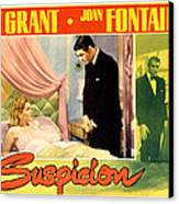 Suspicion, Joan Fontaine, Cary Grant Canvas Print by Everett