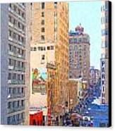 Sutter Street San Francisco Canvas Print by Wingsdomain Art and Photography