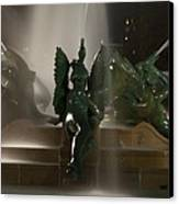 Swann Fountain At Night Canvas Print by Bill Cannon