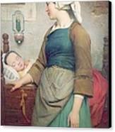 Sweet Slumber Canvas Print by Emile Auguste Hublin