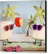 Sweet Vacation Canvas Print by Heather Applegate