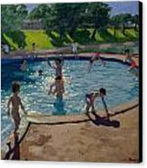 Swimming Pool Canvas Print by Andrew Macara