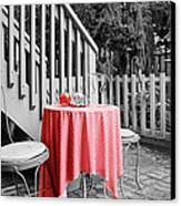 Table And Chairs Canvas Print by Frank Nicolato