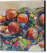 Tangerines Canvas Print by Juliya Zhukova