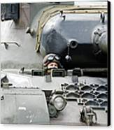 Tank Driver Of A Belgian Leopard 1a5 Canvas Print by Luc De Jaeger
