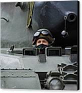 Tank Driver Of A Leopard 1a5 Mbt Canvas Print by Luc De Jaeger