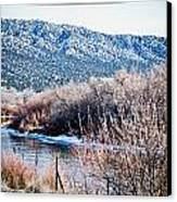 Taos Creek Canvas Print by Lisa  Spencer
