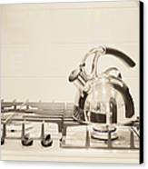 Tea Kettle On Stove Canvas Print by Andersen Ross