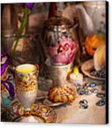 Tea Party - The Magic Of A Tea Party  Canvas Print by Mike Savad