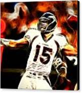 Tebow Canvas Print by Paul Van Scott