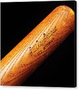 Ted Williams Little League Baseball Bat Canvas Print by Andee Design