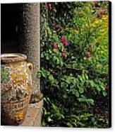 Temple And Garden Urn, The Wild Garden Canvas Print by The Irish Image Collection