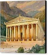 Temple Of Diana Canvas Print by English School