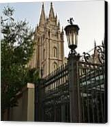 Temple Square Grounds Canvas Print by Bruce Bley