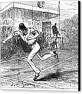 Tennis: Wimbledon, 1880 Canvas Print by Granger