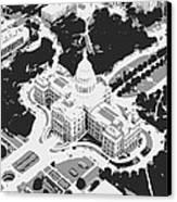 Texas Capitol Bw3 Canvas Print by Scott Kelley