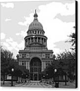 Texas Capitol Bw6 Canvas Print by Scott Kelley