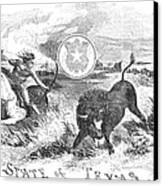 Texas Scene, 1855 Canvas Print by Granger