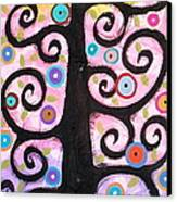 Textured Tree Canvas Print by Karla Gerard