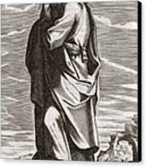 Thales Of Miletus, Greek Philosopher Canvas Print by Middle Temple Library