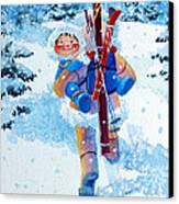 The Aerial Skier - 3 Canvas Print by Hanne Lore Koehler