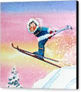 The Aerial Skier - 7 Canvas Print by Hanne Lore Koehler