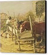 The Appian Way Canvas Print by Henry Herbert La Thangue