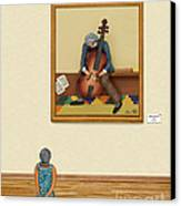 The Art Critic 2 Canvas Print by Anne Klar