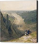 The Avon Gorge - Looking Over Clifton Canvas Print by Francis Danby