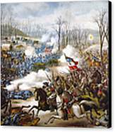 The Battle Of Pea Ridge, Canvas Print by Granger