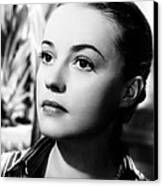 The Bed, Jeanne Moreau, 1954 Canvas Print by Everett