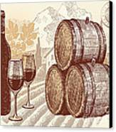 The Best Vintage Wine Canvas Print by Cheryl Young