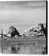 The Big Rock   Okotoks Erratic Canvas Print by Al Bourassa