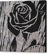 The Black Rose Canvas Print by Marita McVeigh