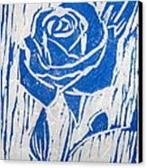 The Blue Rose Canvas Print by Marita McVeigh