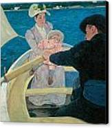 The Boating Party Canvas Print by Mary Cassatt