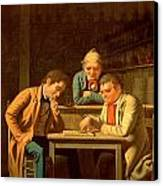 The Checker Players Canvas Print by George Caleb Bingham