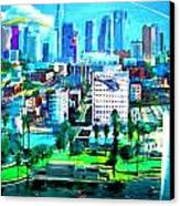 The City Of Angels Canvas Print by Rom Galicia