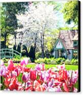 The Claude Monet Small House Canvas Print by Tamyra Ayles